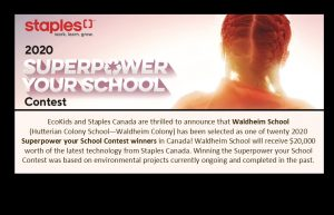 Waldheim selected as 2020 Superpower your School winner